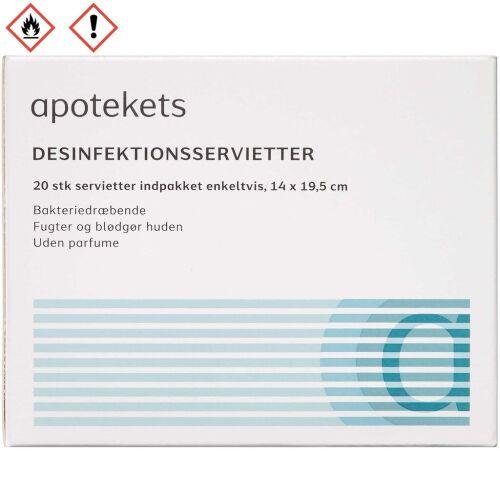 Køb Apotekets Desinfektionsservietter 20 stk. online hos apotekeren.dk