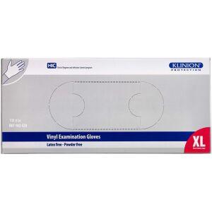 Køb Klinion protection vinylhandske pudderfri Xlarge 100 stk. online hos apotekeren.dk