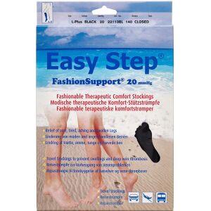 Køb Easy Step knæ lukket tå sort L+ 1 par online hos apotekeren.dk