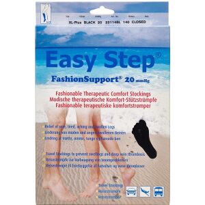 Køb Easy Step knæ lukket tå sort XL+ 1 par online hos apotekeren.dk
