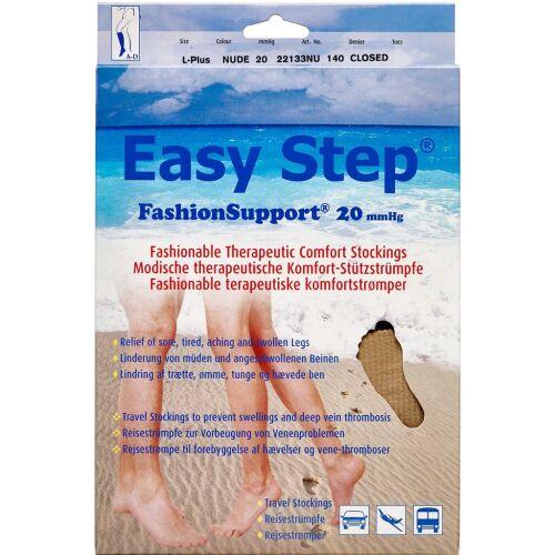 Køb Easy Step knæ lukket tå nude L+ 1 par online hos apotekeren.dk
