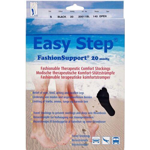 Køb Easy Step knæ åben tå sort S 1 par online hos apotekeren.dk
