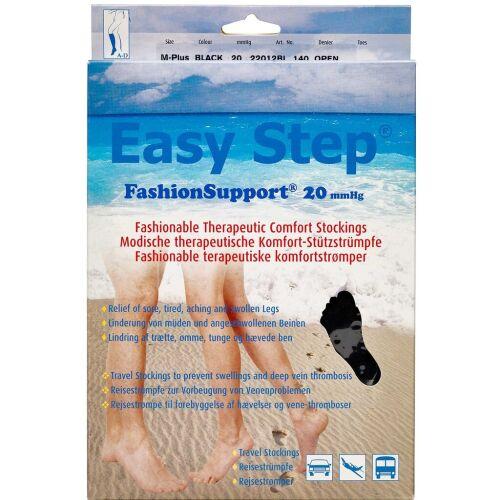 Køb Easy Step knæ åben tå sort M+ 1 par online hos apotekeren.dk