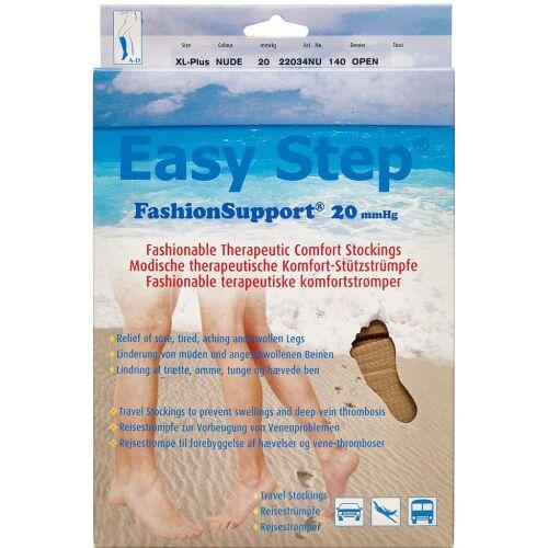 Køb Easy Step knæ åben tå nude XL+ 1 par online hos apotekeren.dk