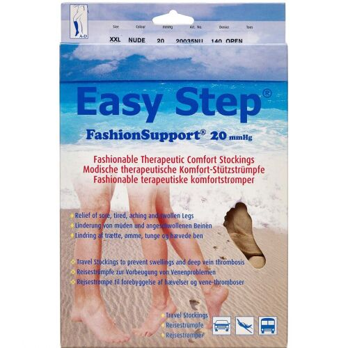 Køb Easy Step knæ åben tå nude XXL 1 par online hos apotekeren.dk