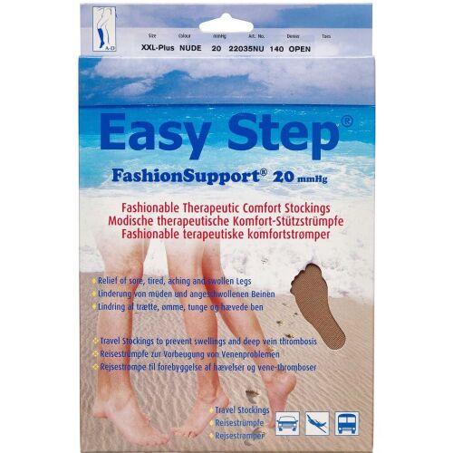 Køb Easy Step knæ åben tå nude XXL+ 1 par online hos apotekeren.dk