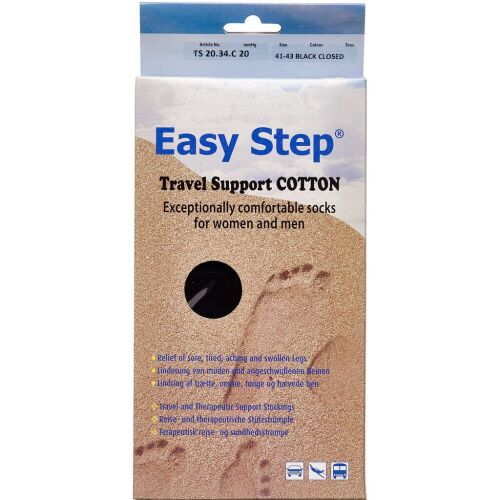 Køb Easy Step knæ travel mix cotton 41-43 1 par online hos apotekeren.dk