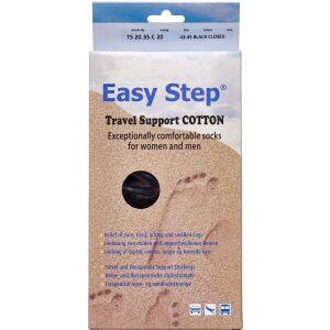 Køb Easy Step knæ travel cotton sort 43-45 1 par online hos apotekeren.dk