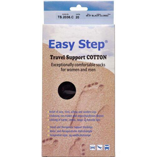 Køb Easy Step knæ travel cotton sort 45-47 1 par online hos apotekeren.dk