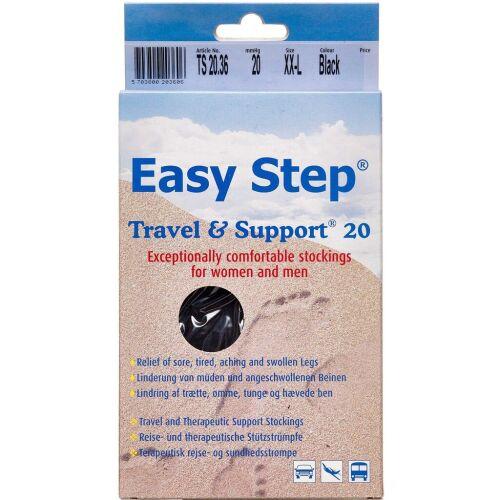 Køb Easy Step knæ travel mix sort 44-46 1 par online hos apotekeren.dk