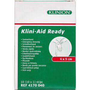 Køb Klinion Førstehjælpskompres 4x5 cm 1 stk. online hos apotekeren.dk