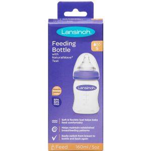 Køb Lansinoh sutteflaske 160 ml med NaturalWave Flaskesut 1 stk. online hos apotekeren.dk