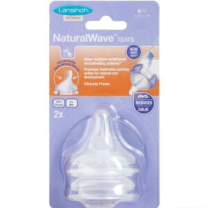 Køb Lansinoh NaturalWave Flaskesut Slow Flow 2 stk. online hos apotekeren.dk