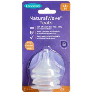 Køb Lansinoh NaturalWave Flaskesut Medium Flow 2 stk. online hos apotekeren.dk