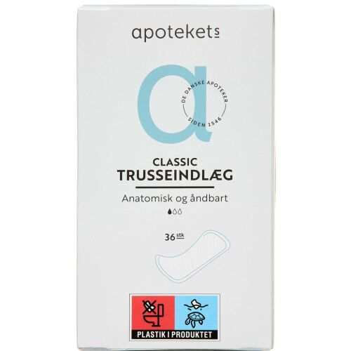 Køb Apotekets Trusseindlæg classic 36 stk. online hos apotekeren.dk