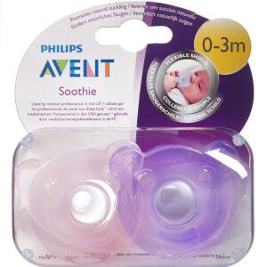 Køb Philips Avent sut Soothie Pink 0-3 mdr. 2 stk. online hos apotekeren.dk