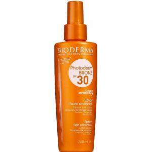 Køb Bioderma Photoderm Bronz Spray SPF 30 200 ml online hos apotekeren.dk