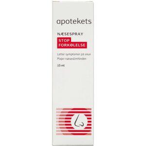 Køb Apotekets Stop Forkølelse næsespray 15 ml online hos apotekeren.dk