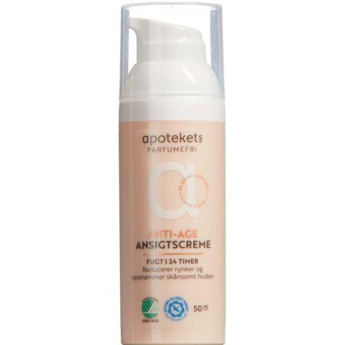 Køb Apotekets Anti-age creme 24H parfumefri 50 ml online hos apotekeren.dk