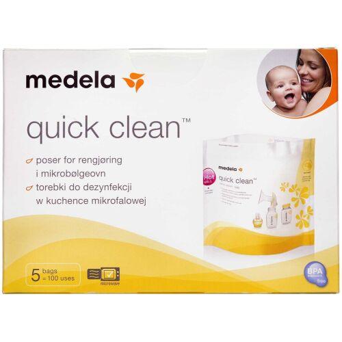Køb Medela Quick Clean Poser 5 stk. online hos apotekeren.dk