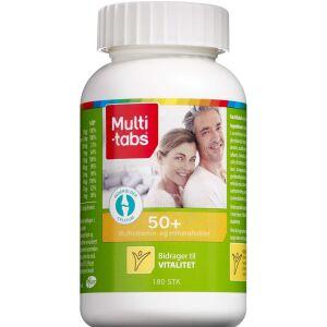 Køb Multi-tabs Multivitamin og mineraltablet 50+ 180 stk. online hos apotekeren.dk