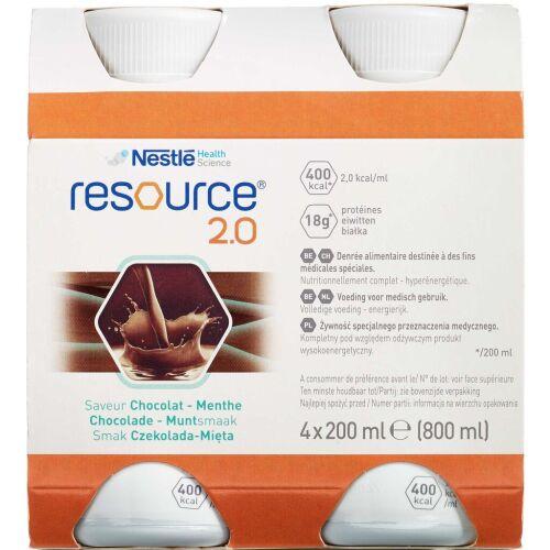 Køb Resource 2.0 Mintchokolade 4 x 200 ml online hos apotekeren.dk
