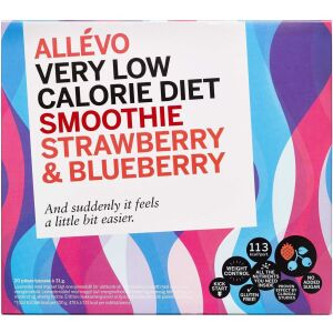 Køb Allevo VLCD Smoothie Strawberry/Blueberry 20 breve online hos apotekeren.dk
