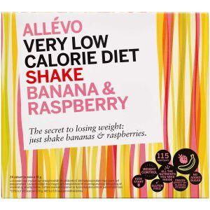 Køb Allevo VLCD Shake Banana/Raspberry 24 breve online hos apotekeren.dk