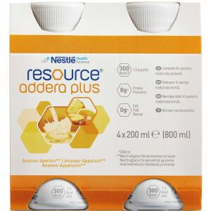 Køb Resource Addera Plus ananas-appelsin 4 x 200 ml online hos apotekeren.dk