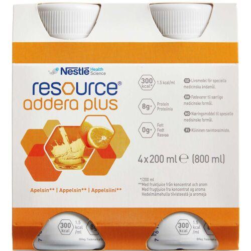 Køb Resource Addera Plus appelsin 4 x 200 ml online hos apotekeren.dk