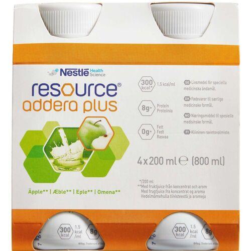 Køb Resource Addera Plus æble 4 x 200 ml online hos apotekeren.dk
