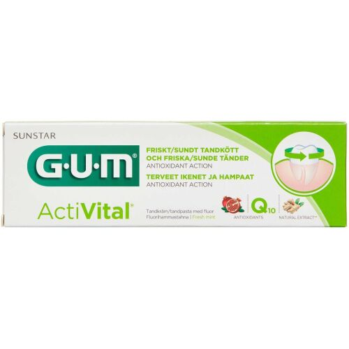 Køb Gum Activital tandpasta med fluor 75 ml online hos apotekeren.dk