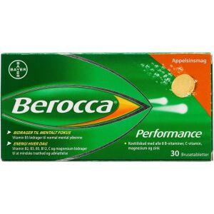 Køb Berocca Performance brusetabletter m. appelsinsmag 30 stk. online hos apotekeren.dk
