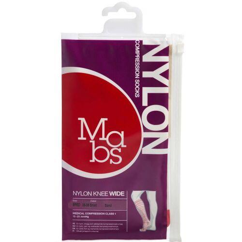 Køb Mabs Nylon Knee Wide sand str. S 1 par online hos apotekeren.dk