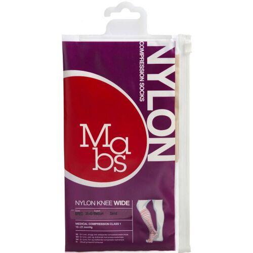 Køb Mabs Nylon Knee Wide sand str. M 1 par online hos apotekeren.dk