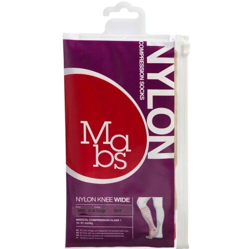 Køb Mabs Nylon Knee Wide sand str. XL 1 par online hos apotekeren.dk