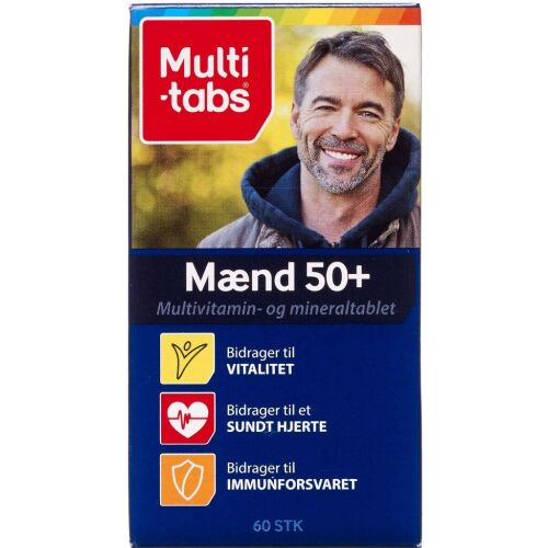 Køb Multi-tab Mænd 50+ tabletter 60 stk. online hos apotekeren.dk