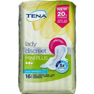 Køb TENA Lady Mini Plus med vinger 16 stk. online hos apotekeren.dk