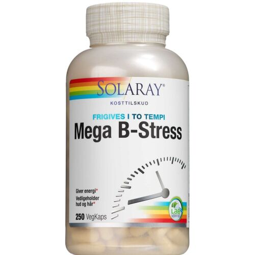 Køb Solaray Mega B-stress 250 stk. online hos apotekeren.dk