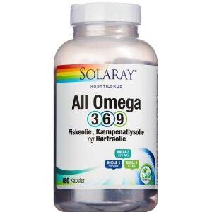Køb Solaray All Omega-3-6-9 kapsler 180 stk. online hos apotekeren.dk