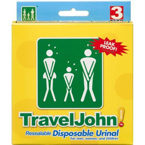 Køb TravelJohn Urinkolbe 3 stk. online hos apotekeren.dk