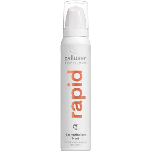 Køb Callusan Cream Mousse Rapid 5% Urea 125 ml online hos apotekeren.dk