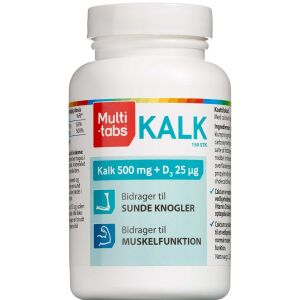 Køb Multi-tabs Kalk+D3 vitamin tabletter 150 stk. online hos apotekeren.dk