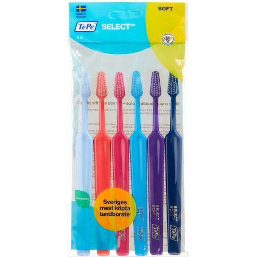 Køb Tepe Select soft tandbørster ass. 6 stk. online hos apotekeren.dk