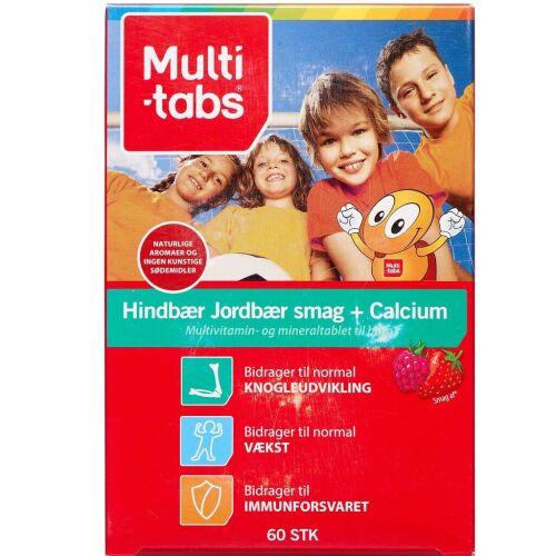 Køb Multi-tabs Hind/Jordbær + Calcium tyggetablet 60 stk. online hos apotekeren.dk