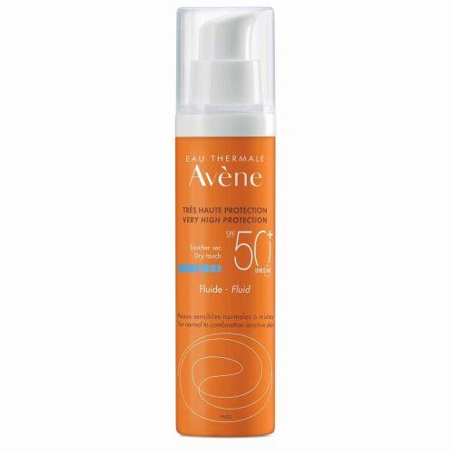 Køb Avène Sun Fluid SPF 50+ med parfume 50 ml online hos apotekeren.dk
