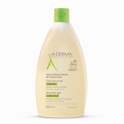 Køb A-Derma Ultra Rich shower gel 500 ml online hos apotekeren.dk