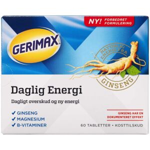 Køb Gerimax Daglig Energi tabletter 60 stk. online hos apotekeren.dk