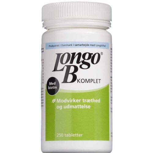 Køb Longo B Komplet tabletter 250 stk. online hos apotekeren.dk