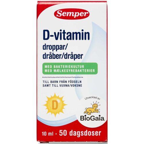 Køb Semper D-vitamin dråber 10 ml online hos apotekeren.dk
